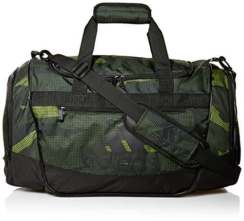 Camo Duffle Bag (adidas Defender Iii Medium Duffel, Tech Olive Off The Grid Camo/Black, One)