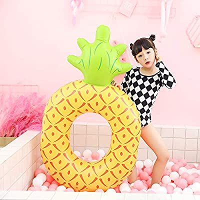 Diligencer Inflatable Small Pineapple Pool Floating Ring for Baby Kids Adults Fun Blow Up Summer Beach Swimming Pool Party: Toys & Games