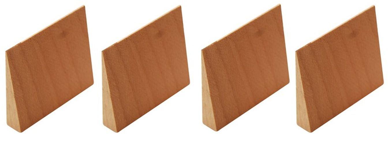 Kraftmann 86678 Wooden Wedges Set, Beige, 4-Piece BGS technic