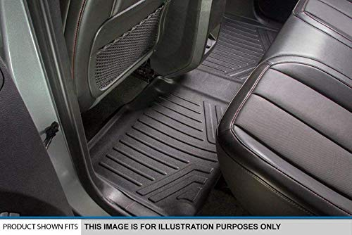 2009-2012 2010-2012 MAXFLOORMAT Floor Mats for Dodge RAM Crew Cab // Mega Cab Black First Row Set