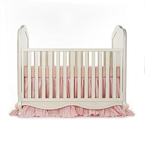 Skirt Jean Crib Cotton Glenna (Glenna Jean Maddie 2 Piece Crib Bedding Starter Set, Pink)