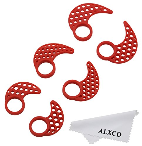 Earhook Fin For Jaybird X2  Alxcd Sml 3 Pair Anti Slip Sport Durable Soft Silicone Replacement Ear Tip Hook  Fit For Jaybird X X2 Earphone Sport  3 Pair   Red