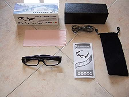Occhiali Vista Spia Hd 1280x720 Spy Telecamera Occultata Spia Microcamera Cw31 kkZy2