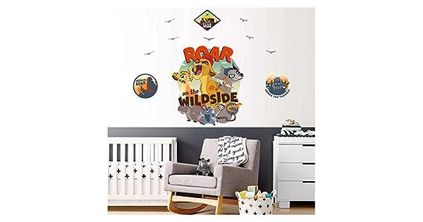 Aslan Koruyucular 90x110 Cm Duvar Sticker Duvar Kaplama Sticker