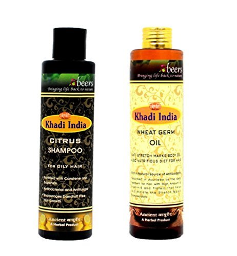 Khadi Abeers Combo of Wheat Germ Oil & Citrus Shampoo For Oily Hair