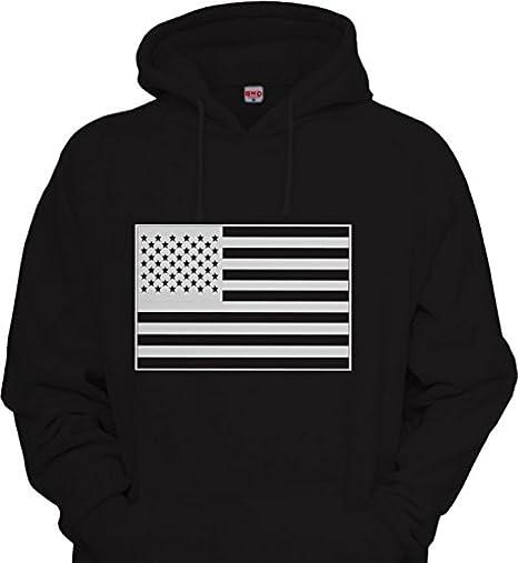 Mens USA American flag Military Army Hoodie Urbanwear Street wear Sweatshirt  BLACK   WHITE (2x c43867188