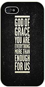God of grace you are everything more than enough for us - Bible verse For SamSung Galaxy S5 Mini Case Cover black plastic case / Christian Verses