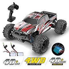 1:18 Scale Remote Control Trucks High Speed 4WD Electric Toy Vehicles with 2 Rechargeable Batteries Tip: The product you order from Jan 3rd come with 2 batteries with higher price than before. If there is anything wrong with your order, pleas...