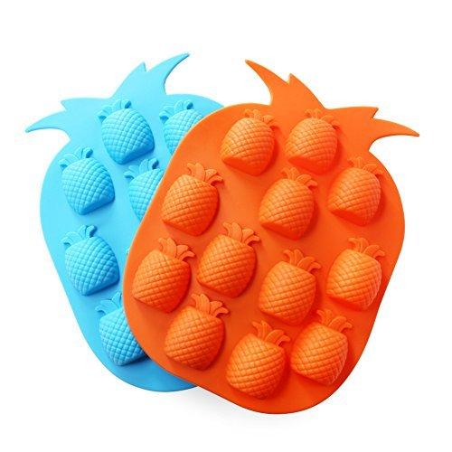 Candy Making Molds, 2PCS YYP [12 Cavity Pineapple Shape Mold] Silicone Candy Molds for Home Baking - Reusable Silicone DIY Baking Molds for Candy, Chocolate or More, Set of (Homemade Halloween Candy For Kids)