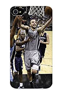 Awesome EtsPbR-3226-juxCr Recalling Defender Tpu Hard Case Cover For Iphone 4/4s- San Antonio Spurs Basketball Nba (9)