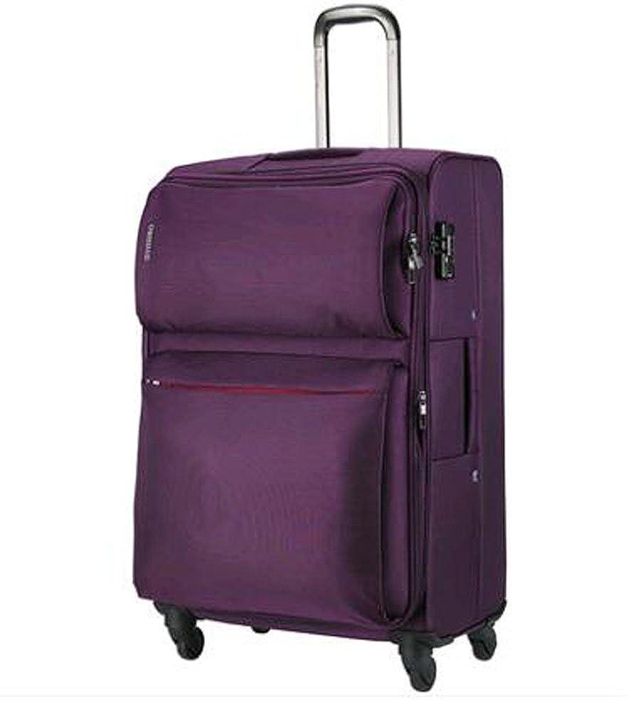 スーツケース 4カラー展開 20インチ 24インチ 26インチ 28インチ 旅行ケース TSAロック搭載 可愛い おしゃれ 布製 シンプル トランクnncas-014 B073WQGCKV 20インチ パープル パープル 20インチ
