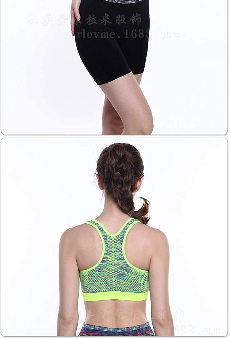 Womens Zip Front Sports Bras for Women Wirefree Removable Cups Yoga Sports Bra Camisole Workout Crop Tank Tops