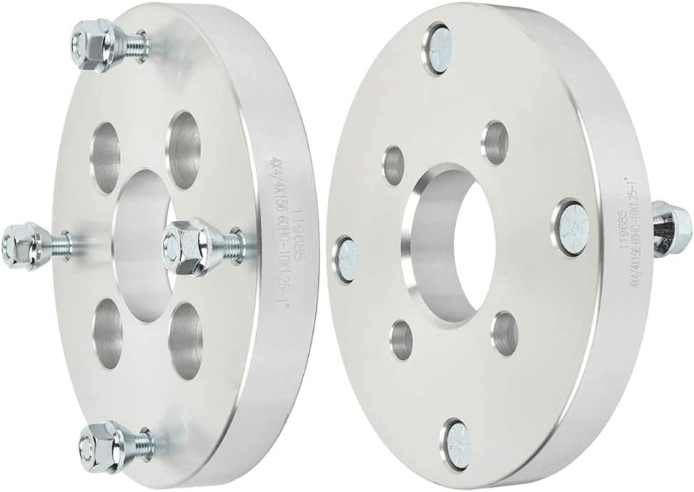CTCAUTO 2PCS Wheel Spacers Adapters 4x4 to 4x156 10x1.25 64 1 fit for 1995-1998 Polaris Magnum 425 1999-2003 Polaris Magnum 500 2008-2010 Polaris Outlaw 450