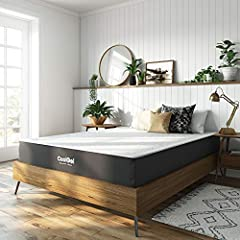 The latest in memory foam and gel technology, Classic Brands 10-Inch cool gel mattress draws heat away from your body so that you stay comfortable at night without tossing and turning. Gel particles are infused throughout the memory foam to h...