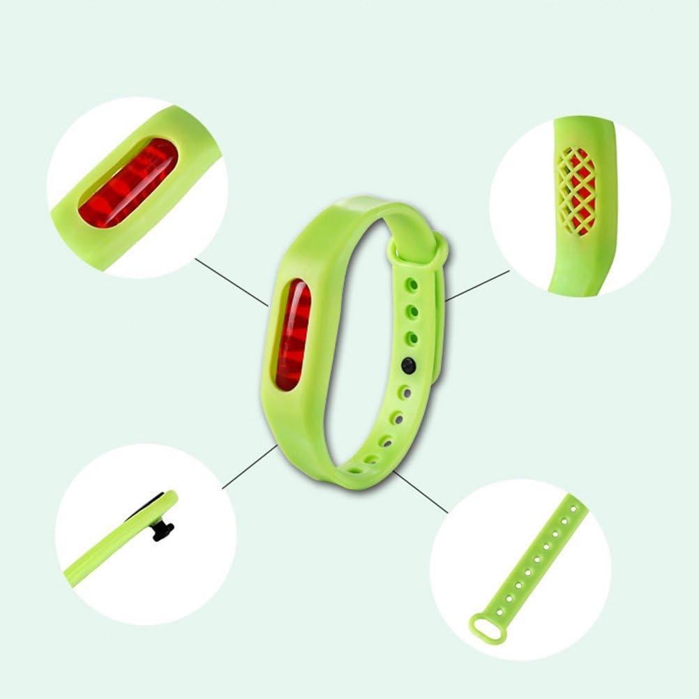 LIOOBO 6 St/ücke Camping Repellent Armb/änder M/ückenschutz Bands Nat/ürliche Pflanze Insekt Silikon Armband