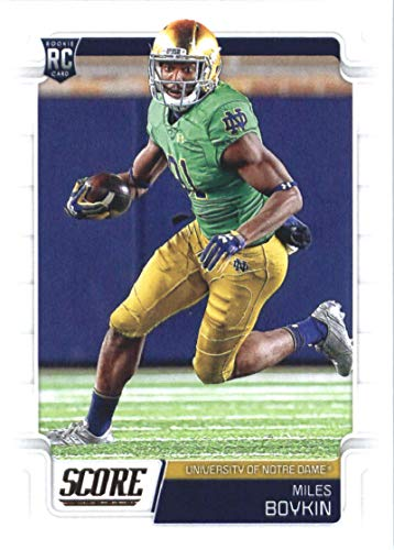 2019 Score Football #430 Miles Boykin Notre Dame Fighting Irish Rookie Official NFL Trading Card From Panini Ravens