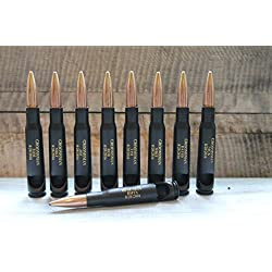 Engravable-Set of 7 or 9- Groomsman Gifts-50 Caliber® Black Powder Coated Military Bullet Bottle Openers