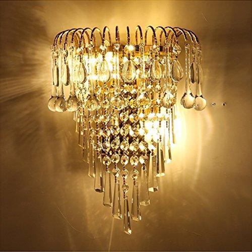 MOMO Luxury K9 Crystal Wall Lamp European Creative Living Room Lights Gold Led Bedside Lamps by MOMO