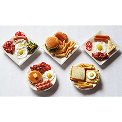 Mixed 5 Assorted Dollhouse Miniature Food,Collectibles: Toys & Games