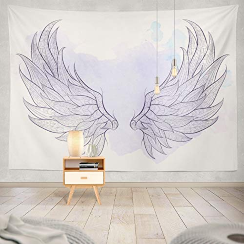 - ONELZ Wall Hanging Tapestry Wings Grunge African Indian Tattoo Shirt Bag and Angel Mandala Aztec Decor Collection Bedroom Living Room 60