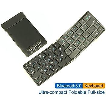 Amazon Com Ec Technology Foldable Bluetooth Keyboard
