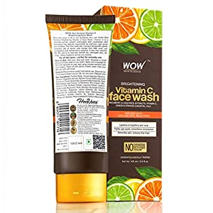 WOW Skin Science Brightening Vitamin C Face Wash – No Parabens, Sulphate, Silicones & Color (100mL)