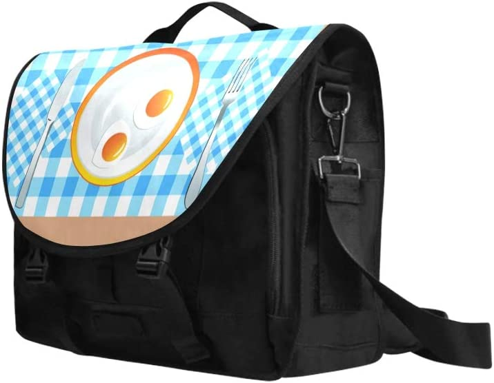 Laptop Travel Bag Appetizing Delicious Breakfast Fried Egg Sausage Multi-Functional Men Briefcase Laptop Fit for 15 Inch Computer Notebook MacBook
