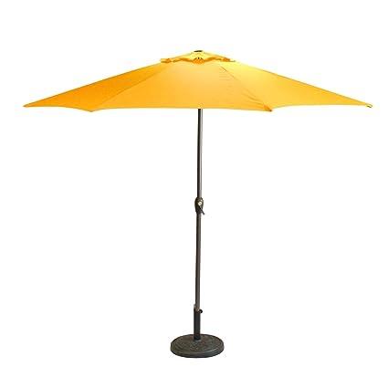 Amazon Com 9 Outdoor Patio Market Umbrella With Hand Crank And