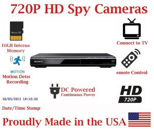 SecureGuard DVD Player 720P Spy Camera SD Card DVR Nanny Camera (Dvd Player Hidden Camera)