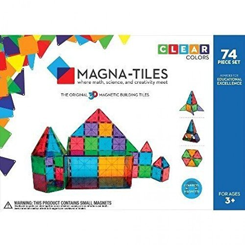 Cow Tile - Magna-Tiles Clear Colors 74 Piece Set - 14874