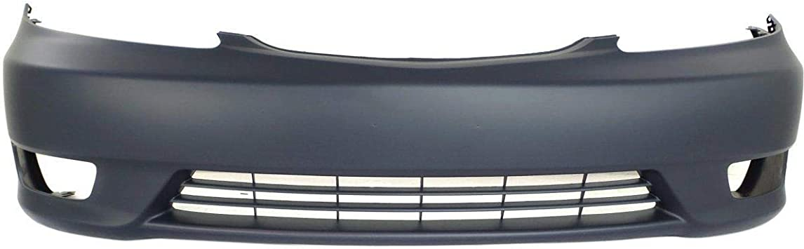 Front Bumper Cover For 2005-2006 Toyota Camry w// fog lamp holes Primed