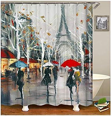 Daesar Cortinas Baño 165x200 CM, Cortina Ducha Antimoho Peva Pintura Cortina Baño Poliester Originales Colorido: Amazon.es: Hogar