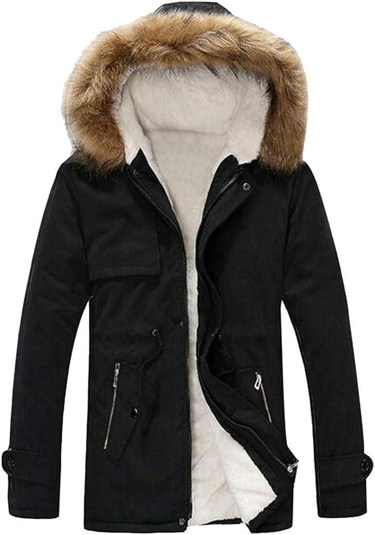 MMCP Men Regular Fit Hoodie Fleece Lined Fall Winter Warm Parka Coat Jacket Outwear