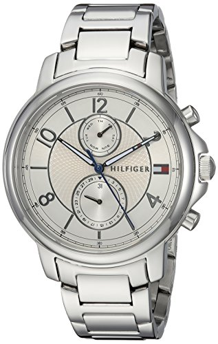 Tommy Hilfiger Women's 'SOPHISTICATED SPORT' Quartz Stainless Steel Casual Watch, Color:Silver-Toned (Model: 1781819)