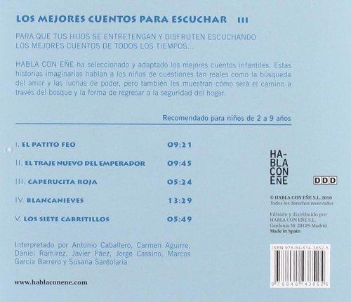 Los mejores cuentos para escuchar III. Incluye CD con la lectura de los relatos (Spanish Edition): Varios Autores, version Susana Santolaria: 9788461438525: ...