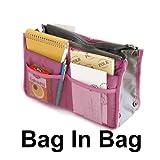Vktech Dual Insert Tidy Handbag Makeup Cosmetic Purse Organizer Lady Inside Outside Bag, Bags Central