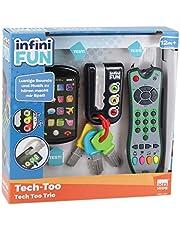Tech Too DES0889 3-delige set met authentieke afstandsbediening, mobiele telefoon en autosleutel, technicus spelset, Trio