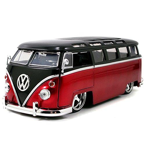 Volkswagen 1962 Bus Die Cast Model: Classic VW 1:24 Scale Hippie Van (Vw Hippie Bus)