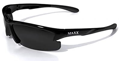7ee6edf4357 Amazon.com  Maxx HD Sempre HDP Polarized Black Sunglasses-Medium ...