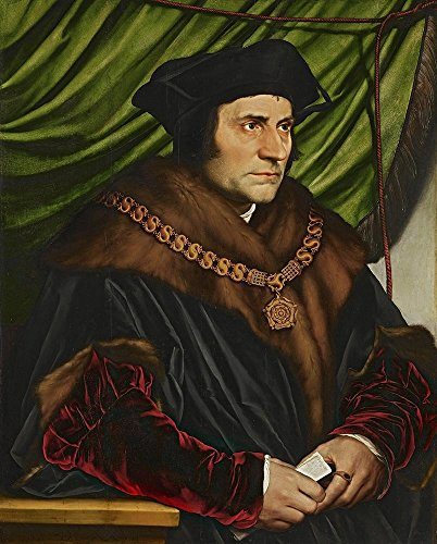 Oil Painting 'Hans Holbein - Sir Thomas More,-1527-1', 30 x 37 inch / 76 x 95 cm , on High Definition HD canvas prints is for Gifts And Foyer, Hallway And Nursery Decoration, personal (Tim West Pipe)