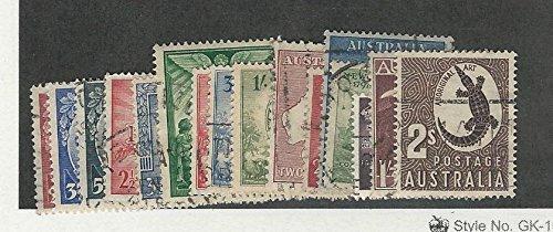 Australia, Postage Stamp, 197-212 Used Set, 1945-1948