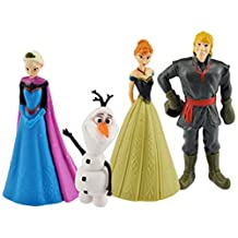 Disney Frozen Mini Figurine Set of 4 (Elsa, Ana, Olaf & Kristoff) by Disney