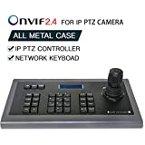 Network Keyboard LEFTEK,IP Keyboard 4D IP PTZ Controller with LCD monitor display Onvif Protocol KeyBoard For IP PTZ Camera Compatible with Hikvision/Dahua/TVT/Uniview/XM/Jovision Brand etc.
