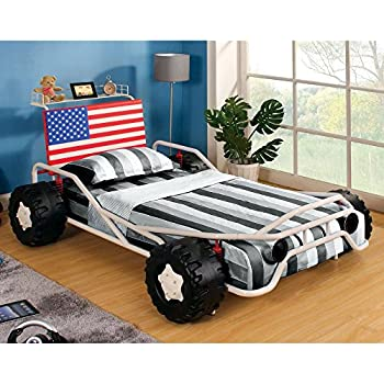 ricky racer twin metal race car bed
