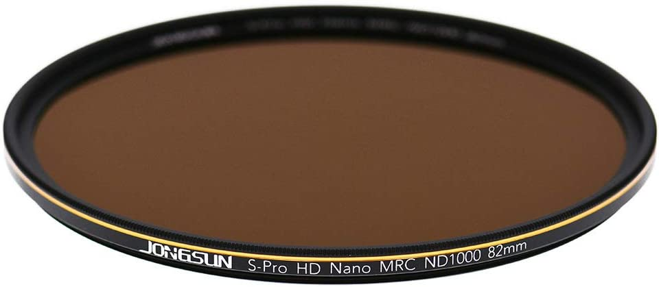10-Stop ND1000 JONGSUN ND1000 72mm ND Filter 3.0 S-PRO HD Neutral Density Lens Filter,MRC 18-Layer Nano Multicoated Schott B270 Optical Glass
