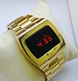 70s 1970s Old Vintage Style LED LCD DIGITAL Rare Retro Mens Watch bright gold 12/24hour ASTRONAUT Style DIGITAL Rare Retro watches