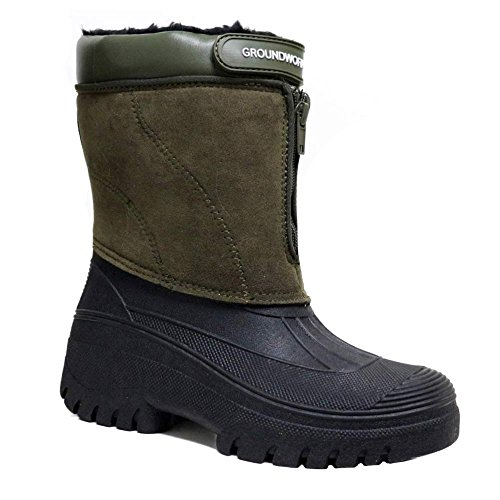 de material de Unknown nieve botas sintético caqui mujer Ovxw14q5w