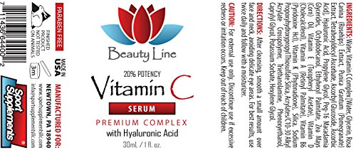 Anti wrinkle and dark spot removal - VITAMIN C SERUM Premium Complex With Hyaluronic Acid - Anti wrinkle serum - 6 Bottles by Sport Supplements, LLC (Image #2)
