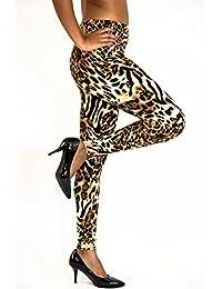 Ultra Soft Women Leggings Leopard Printed High Waist Stretch Tights Yoga Pants
