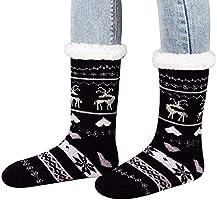 MUMUBREAL Womens Fuzzy Slipper Socks - Winter Warm Cozy Fleece Christmas Stockings
